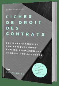 Couverture 3D - Fiches de droit des contrats