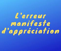 L Erreur Manifeste D Appreciation En Droit Administratif