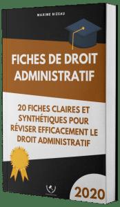 Couverture 2020 3D - Fiches de droit administratif