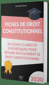 Couverture 2020 3D - Fiches de droit constitutionnel