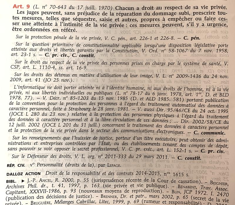 article 9 du Code civil