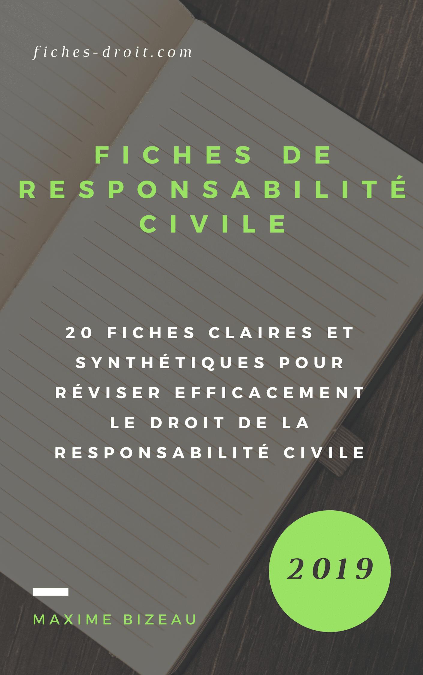 couverture fiches responsabilité civile