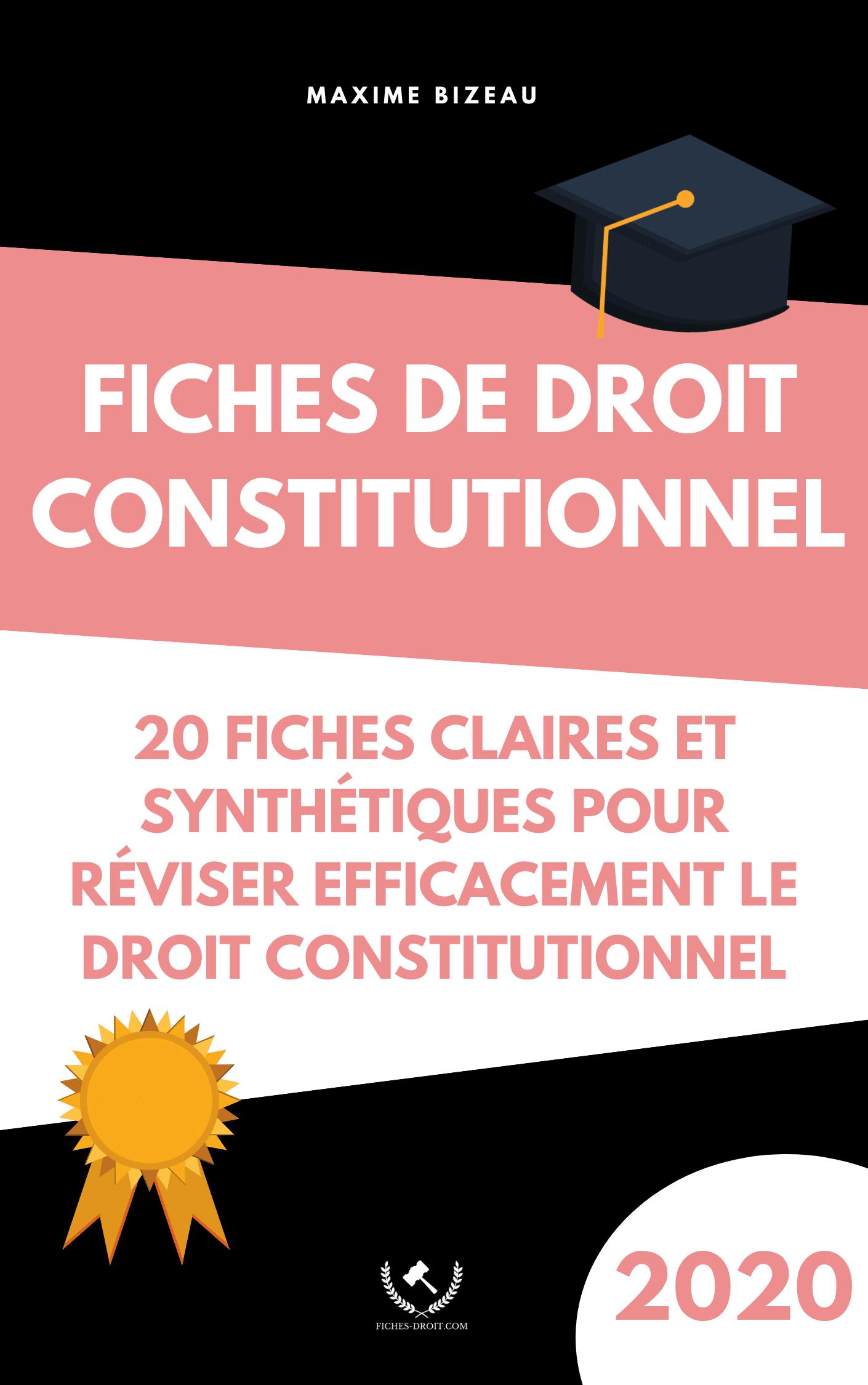 Couverture 2020 - Fiches de droit constitutionnel