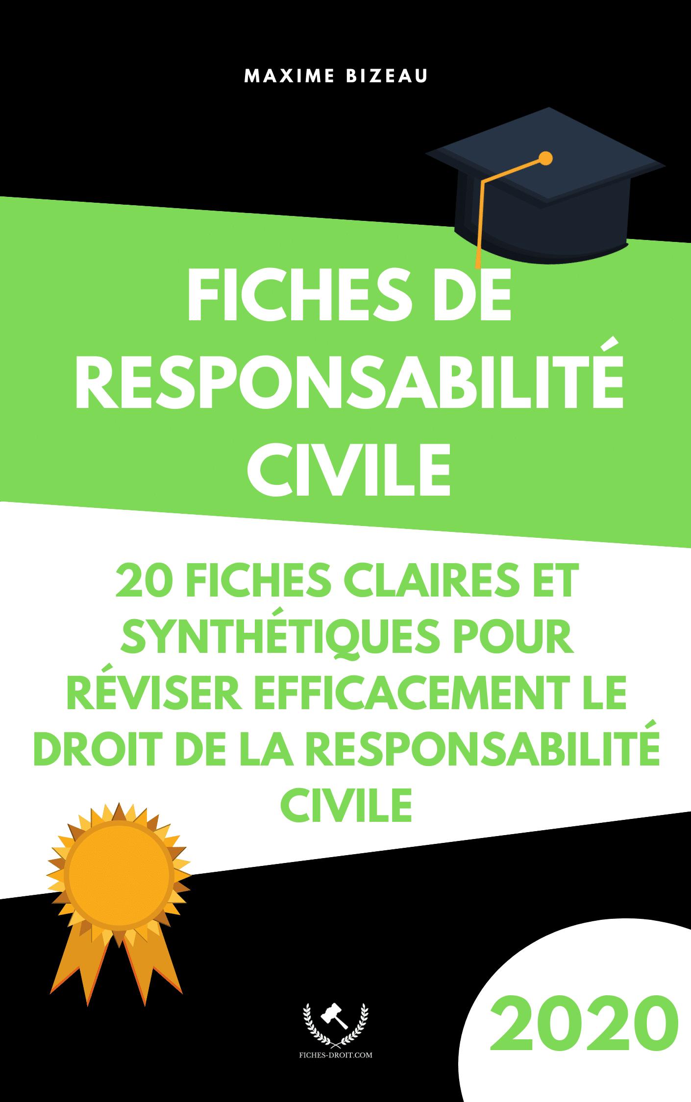 Couverture 2020 - Fiches de responsabilité civile